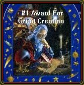 Award for great creation